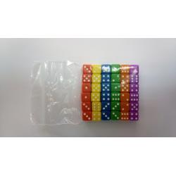 NONAME - Set de 36 dés 6 - OPAQUE - 6 couleurs