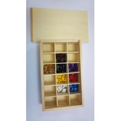 Boîte de rangement 18 cases en bois