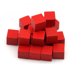Cube 8mm Rouge