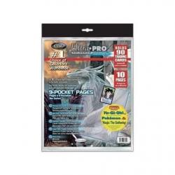 Paquet de 10 feuilles de classeur Ultra-Pro Silver