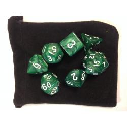 NONAME - Set de 7 dés - MARBLE - Vert/Blanc
