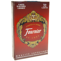 Jeu de 32 cartes : Fournier Rouge