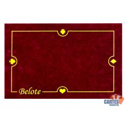 Tapis Belote Suédine (60/40 cm) Bordeaux
