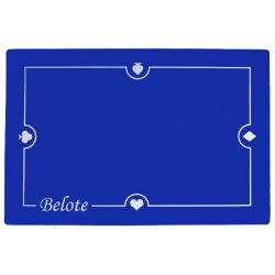 Tapis Belote Suédine (60/40 cm) Bleu