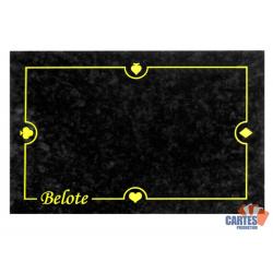 Tapis Belote Suédine (60/40 cm) Noir