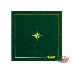 Tapis Tarot Suédine (60/60 cm) Vert