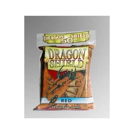 50x Dragon Shield Fifty - MTG 63.5x88 Red
