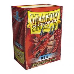 100x Dragon Shield - MTG 63.5x88 Red