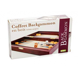 Backgammon Pliable en bois teinte Acajou