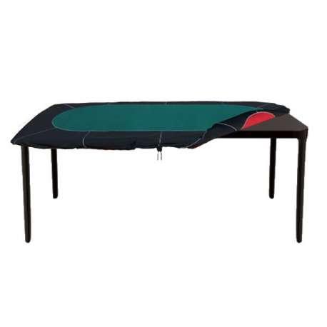 Tapis Néoprène avec Racetrack pour Table Rectangulaire Vert/Rouge (90/120-210/240 cm)