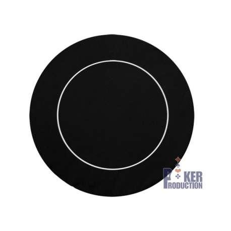 Tapis Rond Néoprène/Jersey Noir - 120 cm