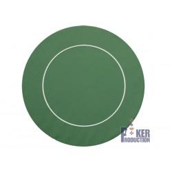 Tapis Rond Néoprène/Jersey Vert - 90 cm