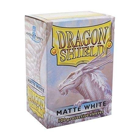 100x Dragon Shield MATTE - MTG 63.5x88 WHITE
