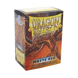 100x Dragon Shield MATTE - MTG 63.5x88 RED