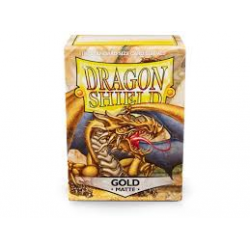 100x Dragon Shield MATTE - MTG 63.5x88 GOLD