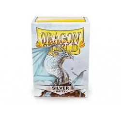 100x Dragon Shield MATTE - MTG 63.5x88 SILVER