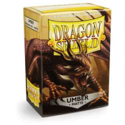 100x Dragon Shield MATTE - MTG 63.5x88 AMBER