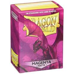 100x Dragon Shield MATTE - MTG 63.5x88 MAGENTA