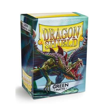 100x Dragon Shield MATTE - MTG 63.5x88 GREEN