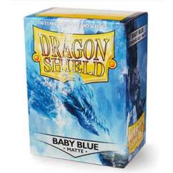 100x Dragon Shield MATTE - MTG 63.5x88 BLUE BABY