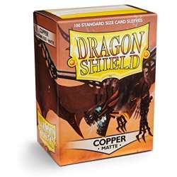100x Dragon Shield MATTE - MTG 63.5x88 COPPER
