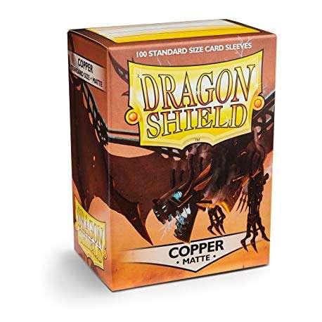 100x Dragon Shield MATTE - MTG 63.5x88 COPPER