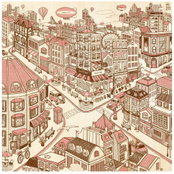 (1600 pièces) - Happiness Town