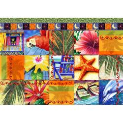 (1500 pièces) - Tropical Quilt Mosaic