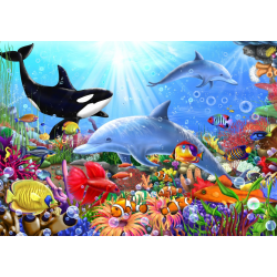 (1500 pièces) - Bright Undersea World