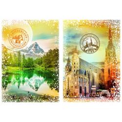 (1000 Pièces) - Travel around the World - Autriche et Suisse