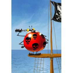 (12 Pièces XXL) - François Ruyer: Coccinelle Pirate