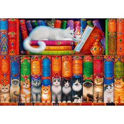(1000 Pièces) - Cat Bookshelf