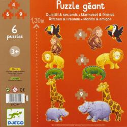 Puzzles évolutifs - (4, 6, 9 pièces) Ouistiti et ses amis