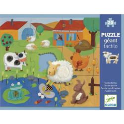 Puzzle géants - (8, 12 pièces) Tactiloferme