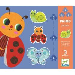 Puzzles évolutifs - (3, 4, 5 pièces) Primo Dans le jardin