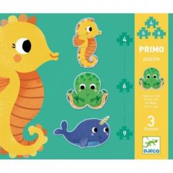 Puzzles évolutifs - (4, 6, 9 pièces) Primo dans la mer