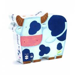 Puzzles silhouette - (24 pièces) Les Vaches à la ferme