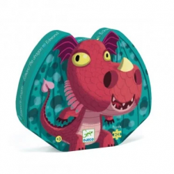 Puzzles silhouette - (24 pièces) Edmond le dragon