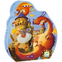 Puzzles silhouette - (54 pièces) Vaillant et les dragons