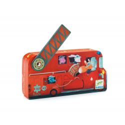 Puzzles silhouette - (16 pièces) Le camion de pompier