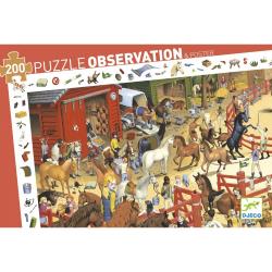 Puzzles observation - (200 pièces) Equitation