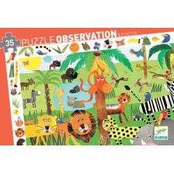 Puzzles observation - (35 pièces) La jungle