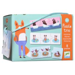 Puzzles trio - (8 x 3 pièces) Histoires
