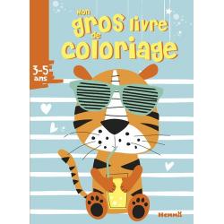 Mon gros livre de coloriage - Tigre avec lunettes - Grand Format