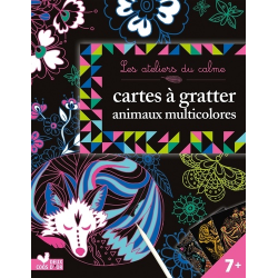 Cartes à gratter animaux multicolores - Grand Format