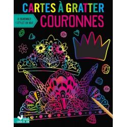 Cartes à gratter Couronnes - Avec 8 couronnes et 1 stylet en bois