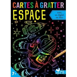 Mes cartes à gratter Espace - Avec 1 stylet en bois, 10 cartes à gratter