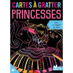 Cartes à gratter Princesses - Avec un stylet en bois - Grand Format