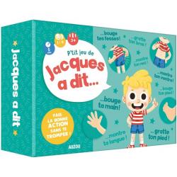 P'tit Jeu de Jacques a dit... - Avec 46 cartes personnages, 34 cartes actions, 5 cartes score, 30 jetons