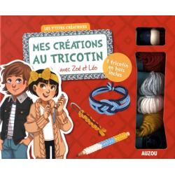 Mes créations au tricotin avec Zoé et Léo - 1 tricotin en bois inclus
